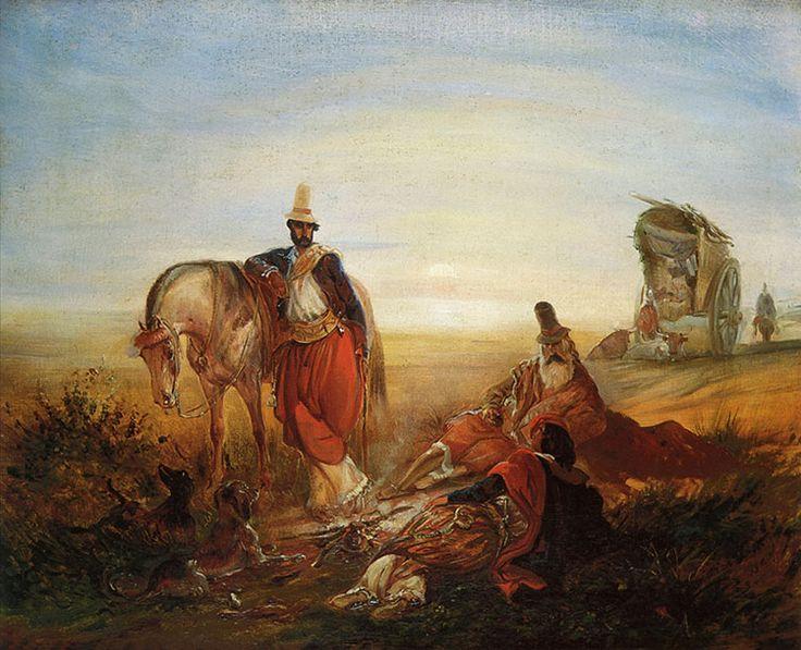 JOHANN MORITZ RUGENDAS-PARADA EN EL CAMPO-1845