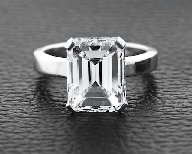 Emerald cut engagement ring!