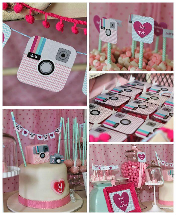Pink Instagram themed birthday Party via Kara's party Ideas | KarasPartyIdeas.com #instagramparty (3)