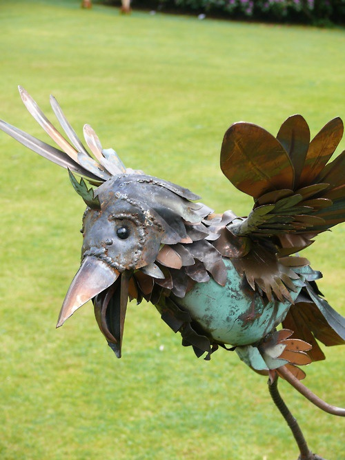 Rusty birds, Delamore arts exhibition