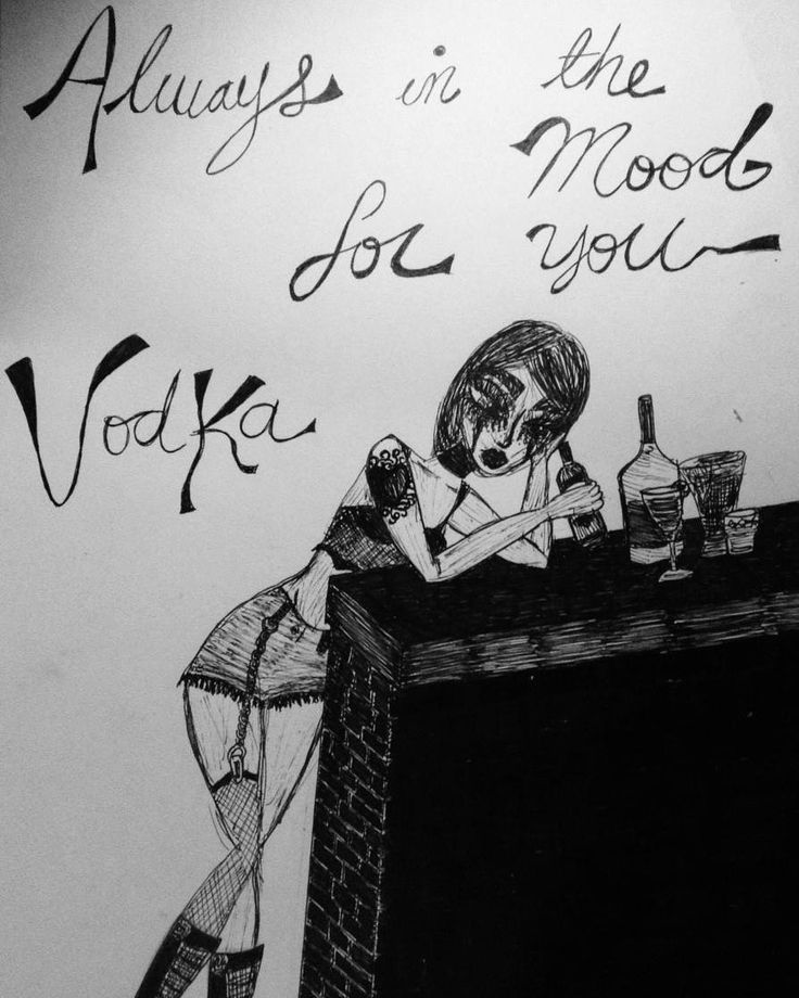 "36 Me gusta, 4 comentarios - Vanesa Von Liebhaber (@gothxlolita) en Instagram: """"Always in the mood for you... vodka""  #sketch #drawing #ink #illustration #doodle #draw #dibujo…"""