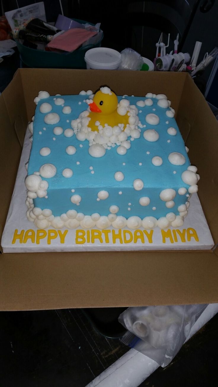 Rubber Duck cake!