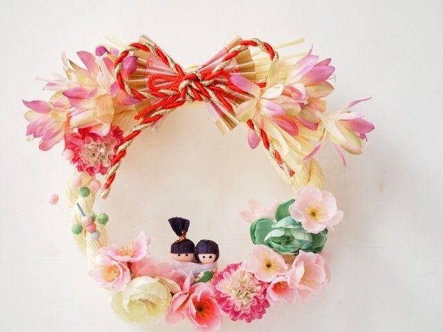 おひな祭りリース*雅 | iichi(いいち)| ハンドメイド・クラフト・手仕事品の販売・購入