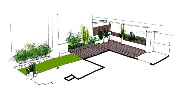 Jardin En Terraza Dise O De La Habitaci N Verde