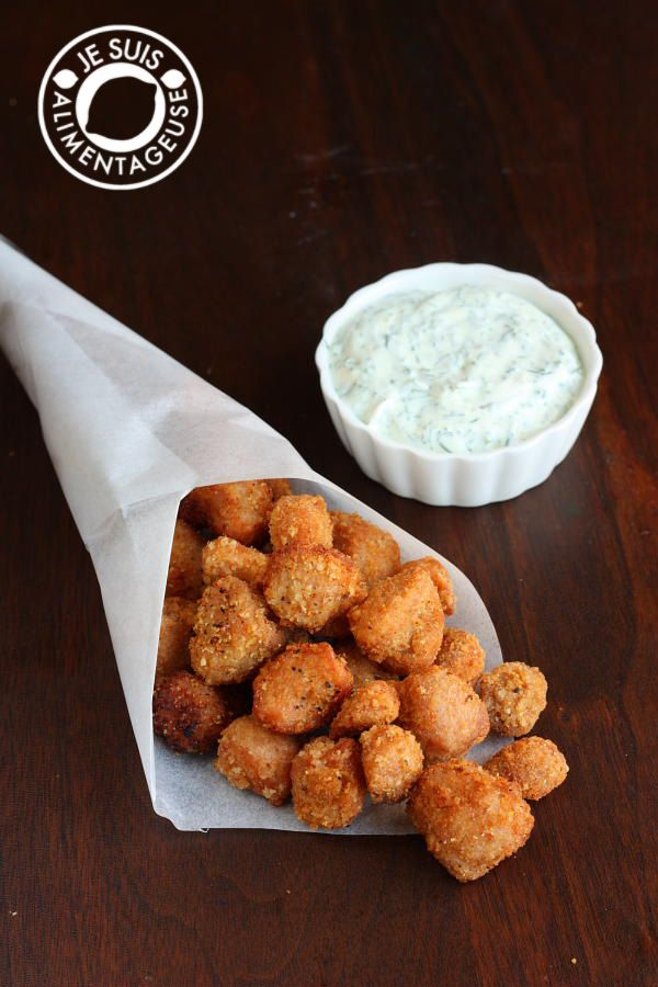 Vegan Popcorn Chicken from alimentageuse.com #appetizers