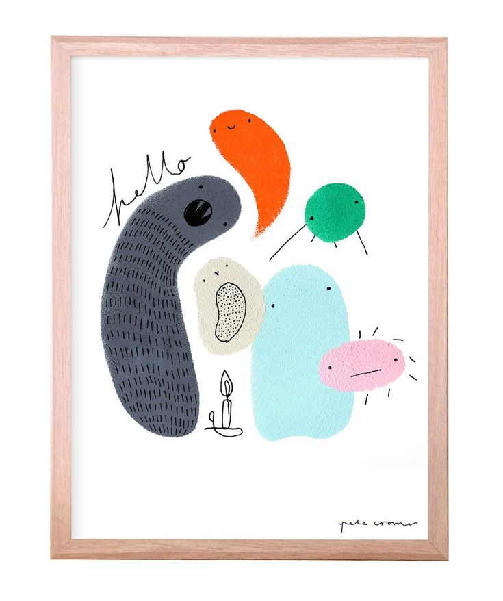 Playfully perfect - these friendly Pete Cromer creatures are the perfect addition to any kids room. Each print is signed and numbered. | huntingforgeorge.com