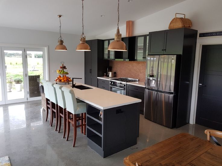We love a new build! #Charcoal #Copper #Kitchens