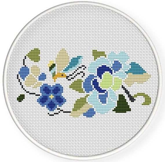 Instant  Download,Free shipping,Cross stitch pattern, PDF,folk flower and butterfly,zxxc0645 by danceneedle on Etsy