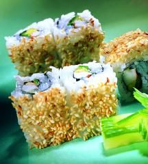 """Ura-Maki-Sushi """"Alaska-Rolls"""""""
