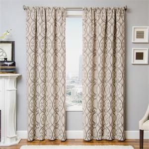 azure scroll curtain panel available in 6 color choices