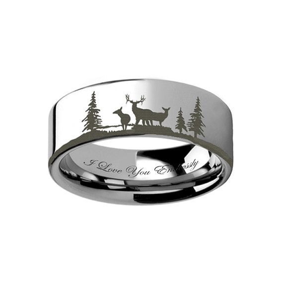 Tungsten Wedding Band Tungsten Ring Men's Promise par RingsParadise