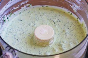 Green Goddess Dressing. This site gives some good history on the dressing and also some alternative versions/recipes.