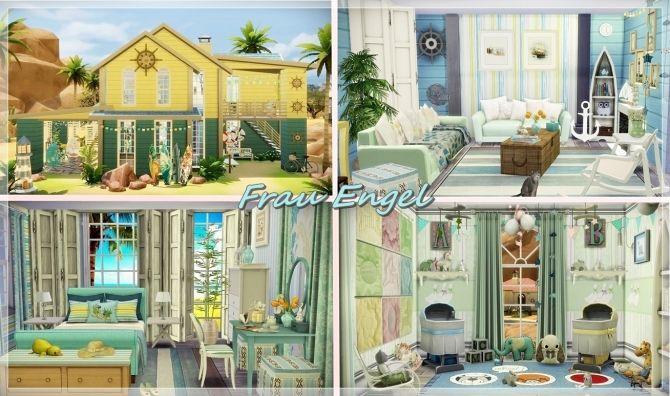 Sea Adventure cottage at Frau Engel via Sims 4 Updates