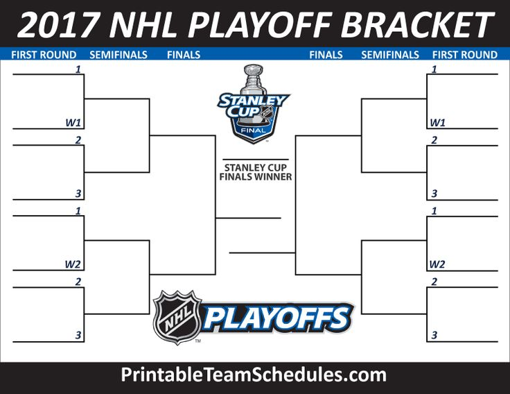 NHL Playoff Bracket 2017 Print Here - http://printableteamschedules.com/NHL/playoffs.php