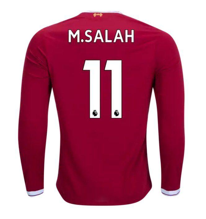 M Salah #11 Liverpool Mens Home Football Soccer T-Shirt Jersey Red