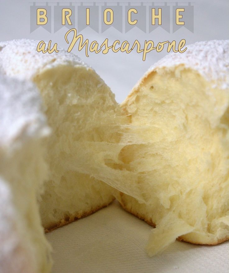 soft brioche with mascarpone