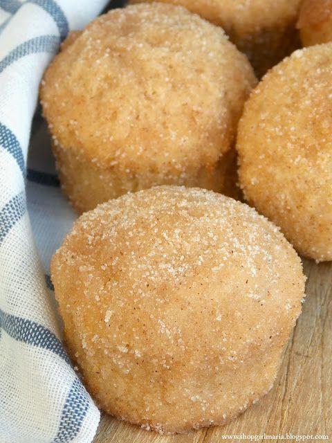 Cinnamon Sugar Donut Muffins ~~ http://shopgirlmaria.blogspot.com/2013/10/cinnamon-sugar-donut-muffins.html