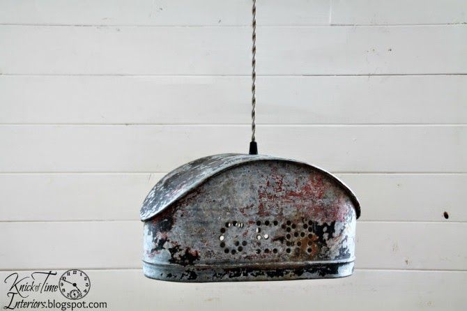 Old Farm Charm - a Farmhouse Industrial Water Pump Salvage Hanging Light