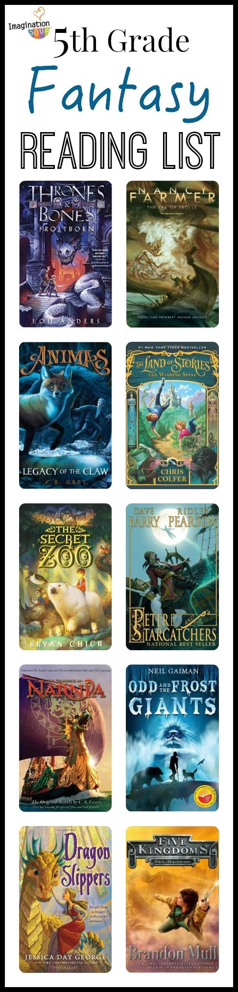 5th grade summer reading list - fantasy chapter books