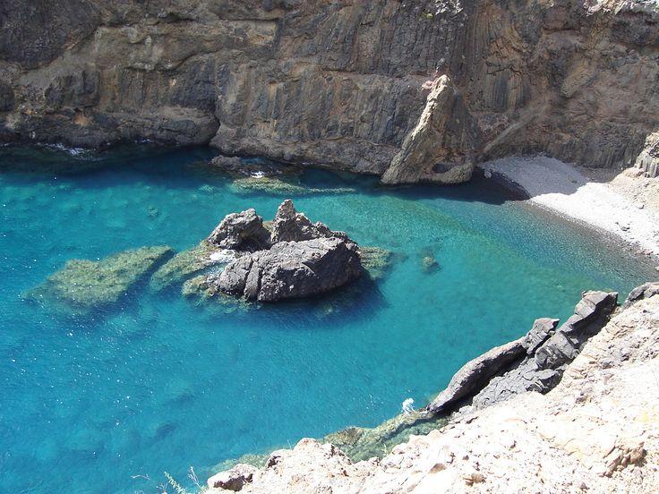 Secret beach in Porto Santo.