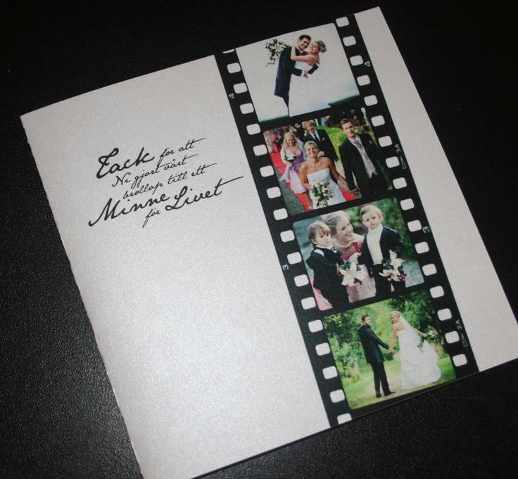 Pappersboden: Tackkort bröllop - Fotoremsa