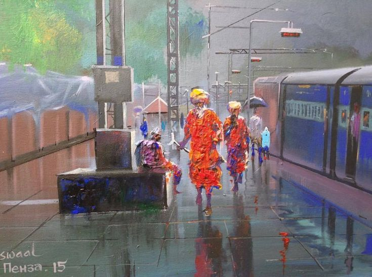 A ticket examiner captures the beauty of Indian Railways in these colourful paintings