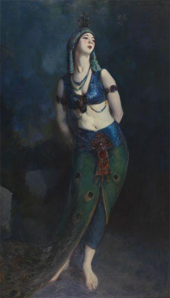 Robert Henri, Ruth St. Denis, 1919,  pintures del museo de la academia de pensylvania de bellas artes ...