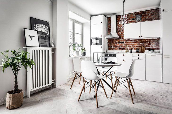 Пример оформления небольшой квартиры в скандинавском стиле