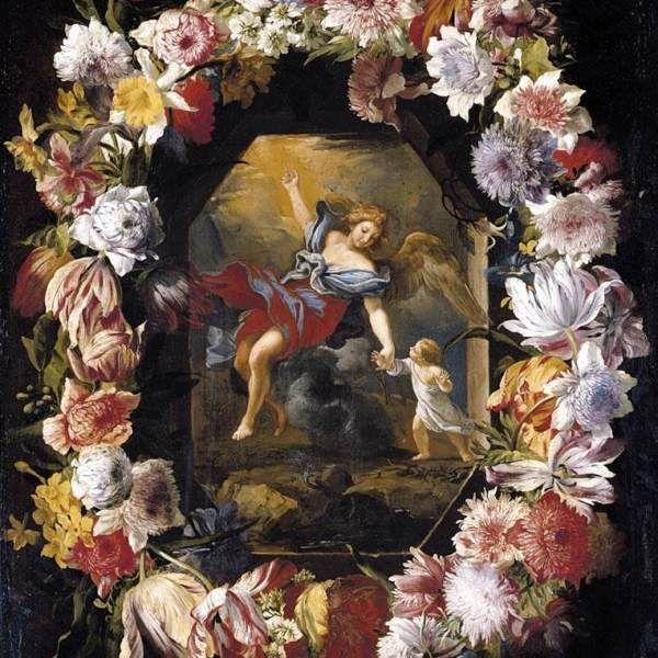Brueghel - ghirlandă de flori