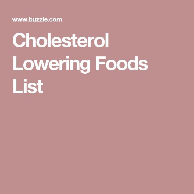 Cholesterol Lowering Foods List Dr Oz