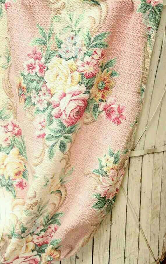 1930s pink barkcloth