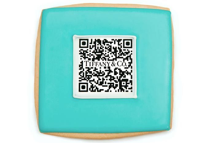 Tiffany & Company used cookies with a QR code in the frosting to invite guests to its Fashion's Night Out activities.