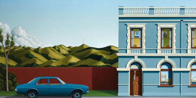 Blue HQ - by Christchurch artist Hamish Allan. imagevault.co.nz