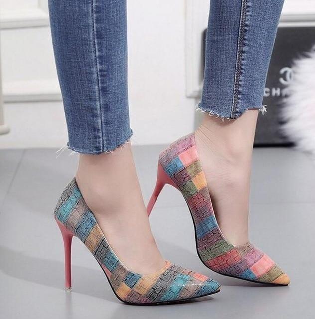 Couro fino Casamento Salto alto   – Paziamoda shoes