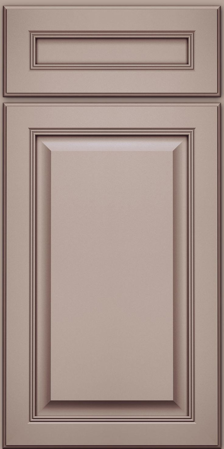 Door Detail - Square Raised Panel - Solid (KGM) Maple in Pebble Grey w/ Cocoa Glaze - KraftMaid Cabinetry