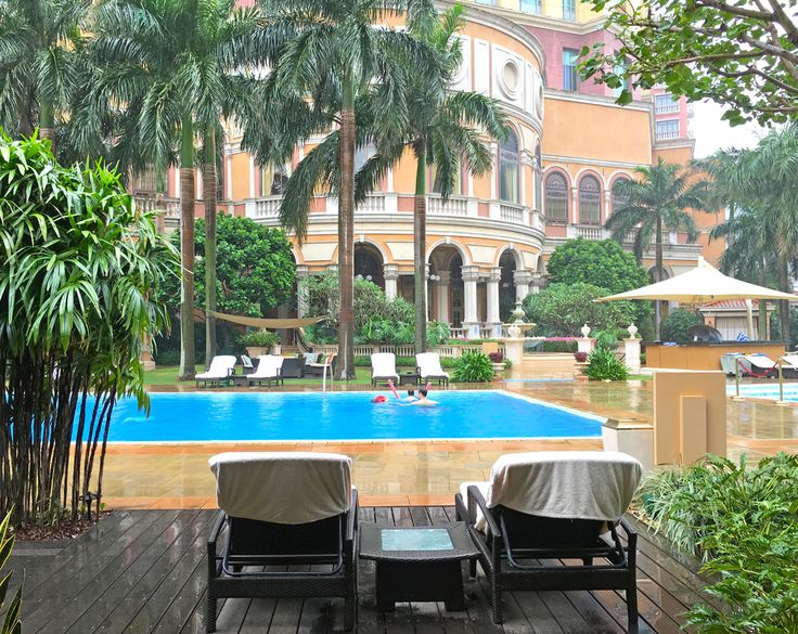 View from the pool cabana - Four Seasons Hotel Macau