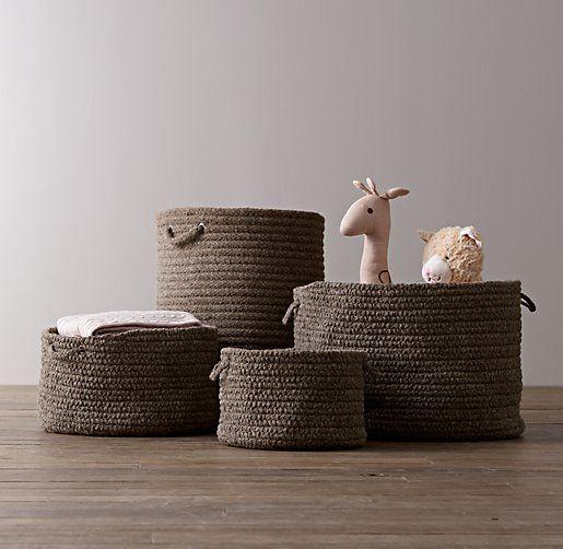 Braided Wool Baskets