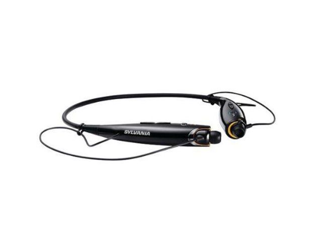 Sylvania Black Bluetooth Neckband Headphones Smartphone Mic and BuiltIn Controls #Sylvania