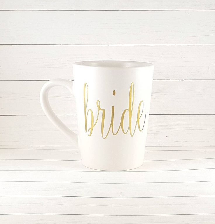 Excited to share the latest addition to my #etsy shop: Bride Coffee Mug Bridal Shower Gift Bridesmaid Bridal Party Gold Lettering Wedding Favor Bachel...