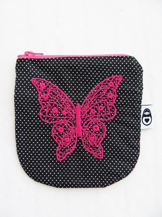 Butterfly coinpurse www.delfiadesign.com www.facebook.com/Delfiadesign