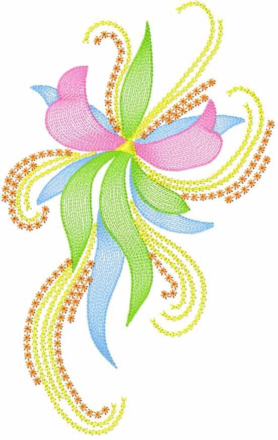 Modern flower free embroidery design flowers