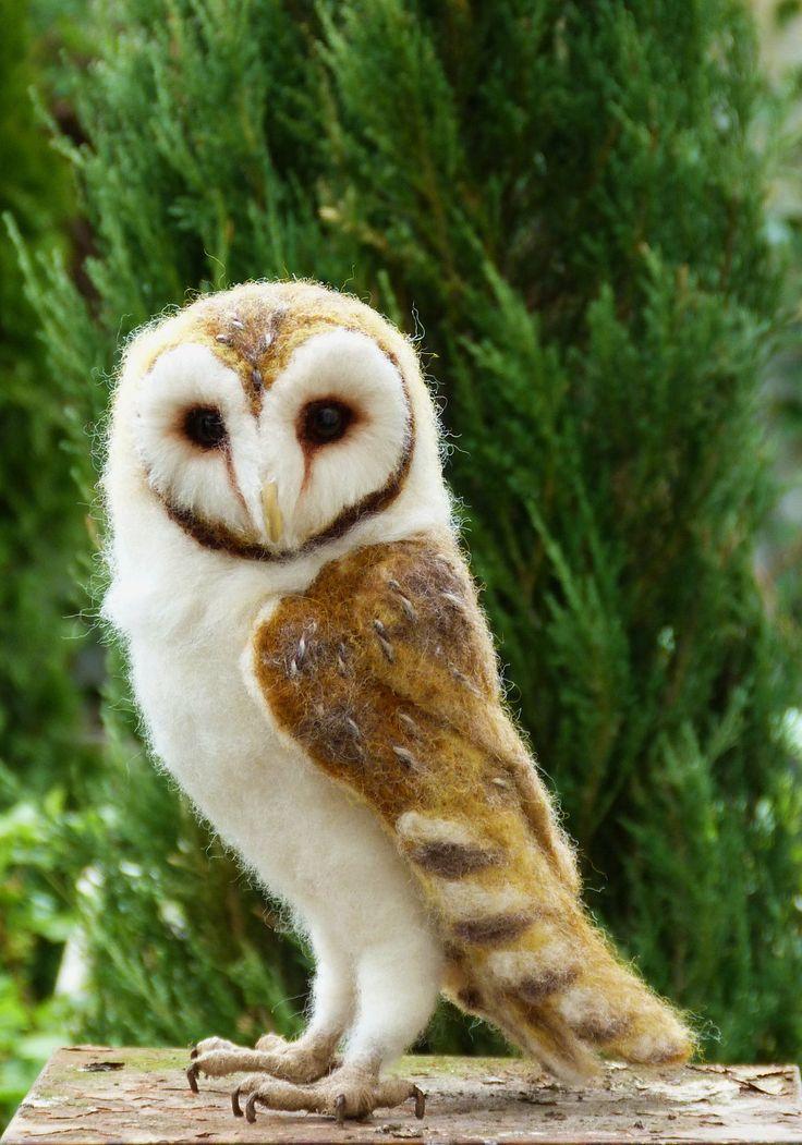 Life Size Needle Felted Life Size Barn Owl Owl Barns
