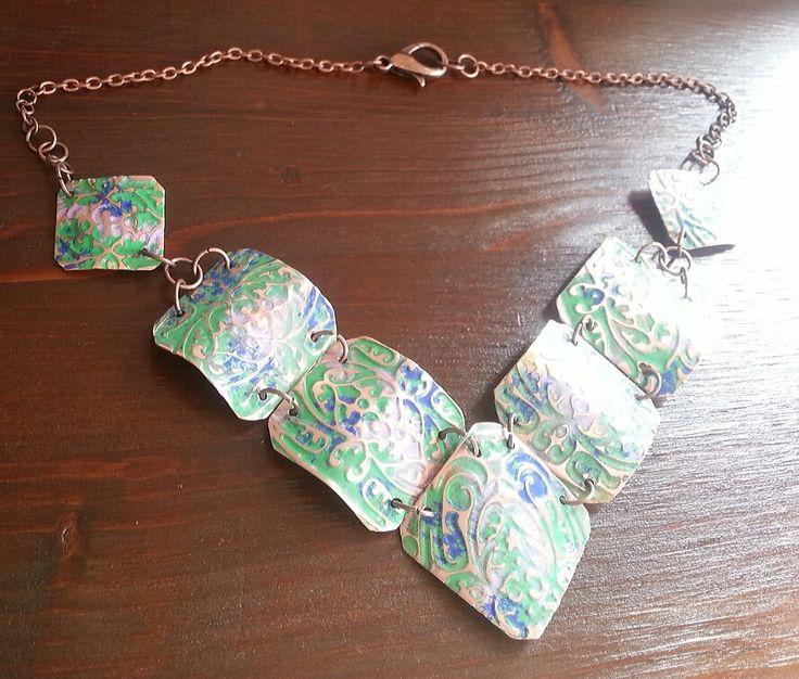 Copper necklace handmade