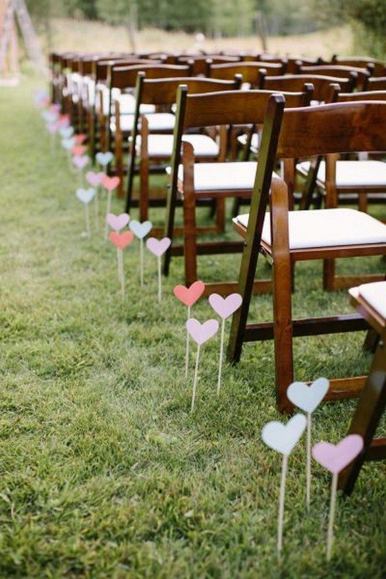 Heart wedding aisle decor / http://www.himisspuff.com/outdoor-wedding-aisles/8/