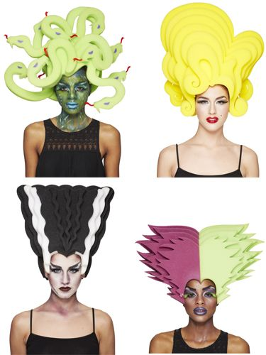 Foam wigs are so fun for halloween!