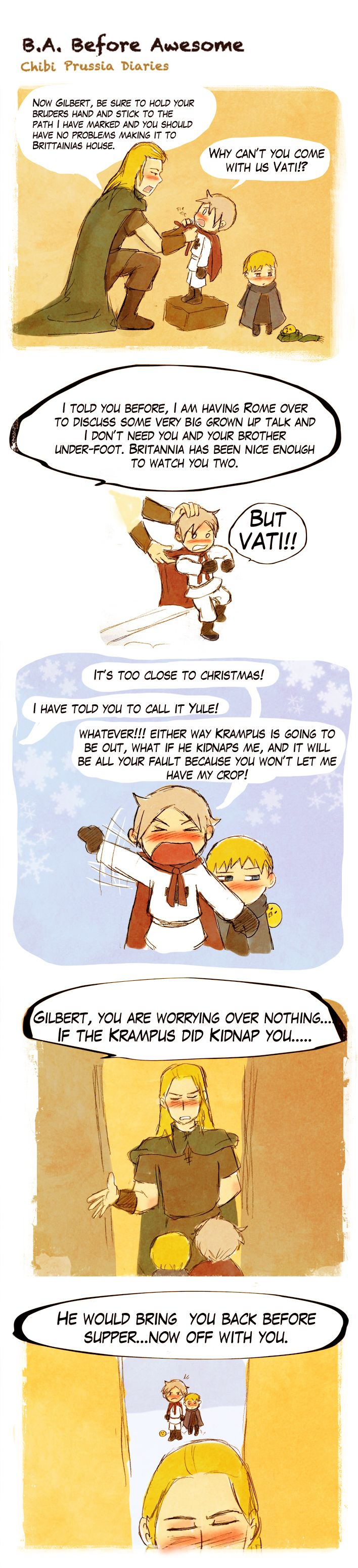 Chibi Prussia Diaries -042- by *Arkham-Insanity on deviantART  Oh Germania <3