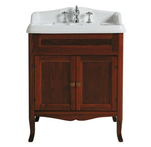KSM0007 Landelijke badkamermeubel  incl. wastafel , walnoot