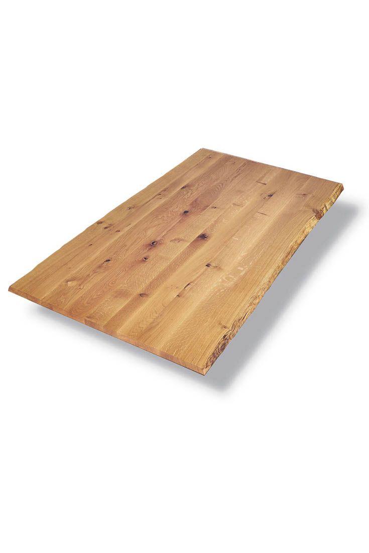 Massivholz Tischplatte Wildeiche mit Baumkante - als Tischplatte, massive Arbeitsplatte oder Massivholz Regal verwendbar. Eiche Tischplatte mit Astanteil nach Maß - online Eiche Tischplatte Baumkante nach Wunschmaß und Ausführung konfigurieren und bei MBzwo bestellen! #massivholz #tischplatte #wildeiche #baumkante #interior #esszimmer