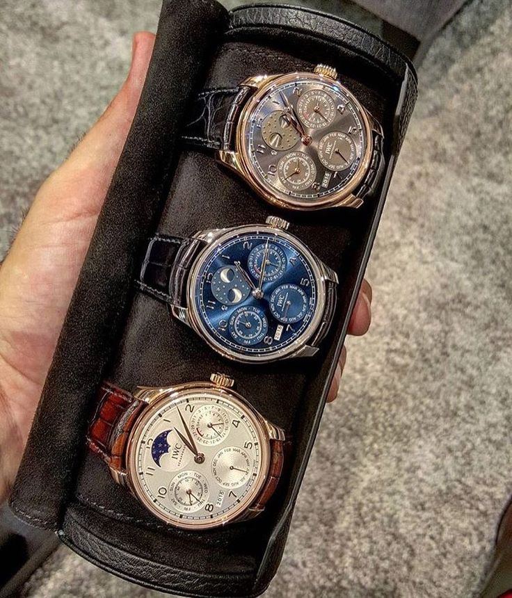 Awesome collection of IWC perpetual calendars by @brunno_paciotti  by itsnotyourphoto #panerai