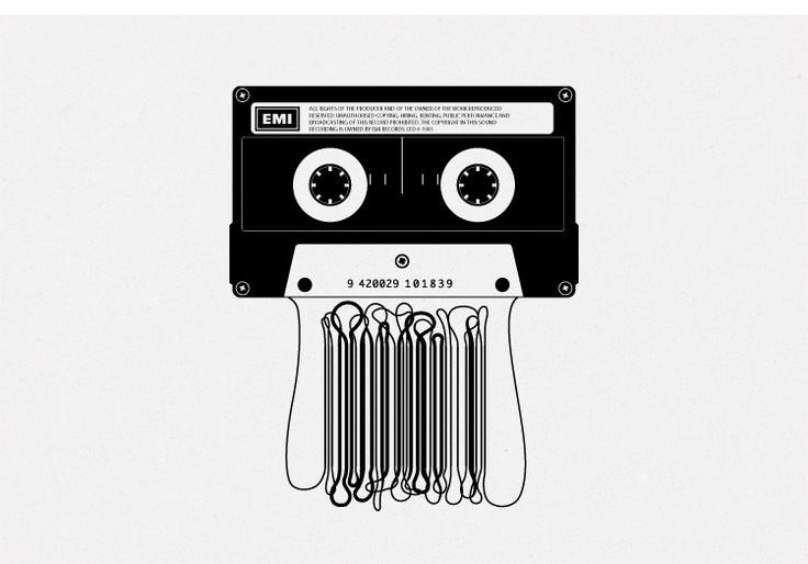 Cassette & Barcode #Art #Design